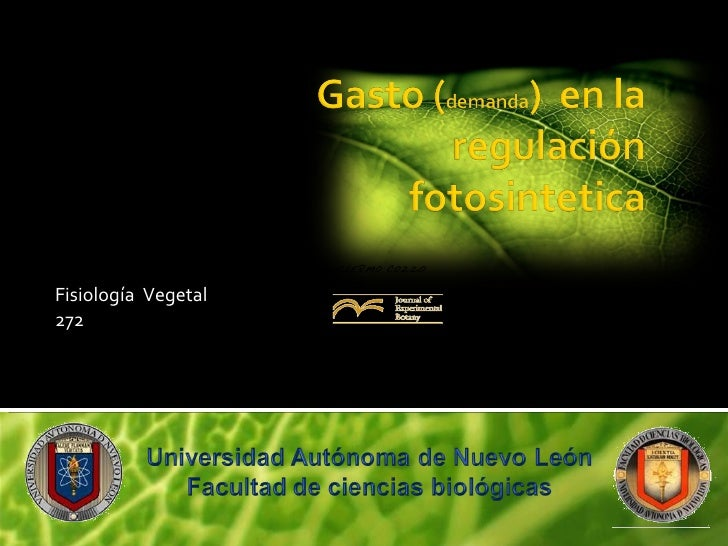 Fisiología  Vegetal  272 Matthew J. Paul   and Christine H. Foyer  Biochemistry and Physiology Department,  IACR-Rothamste...