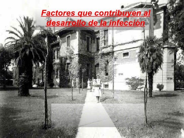Factores que contribuyen al desarrollo de la infección