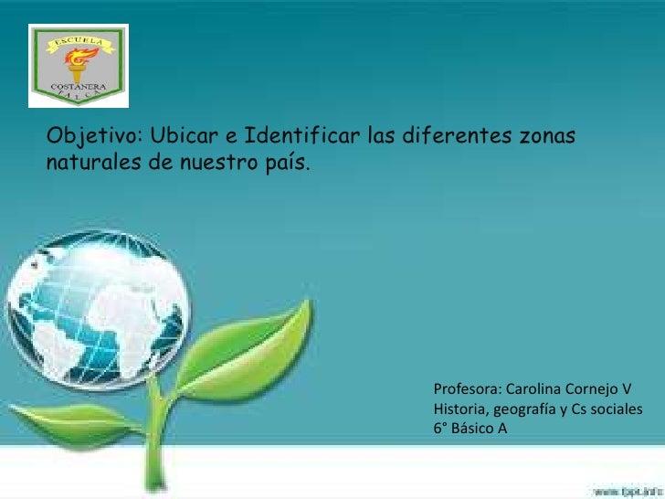 Objetivo: Ubicar e Identificar las diferentes zonasnaturales de nuestro país.                                     Profesor...