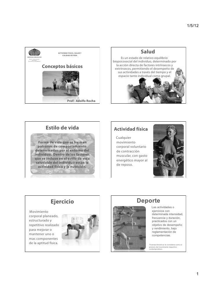 1/5/12                                  ACTIVIDAD FISICA, SALUD Y                                      CALIDAD DE VIDA    ...