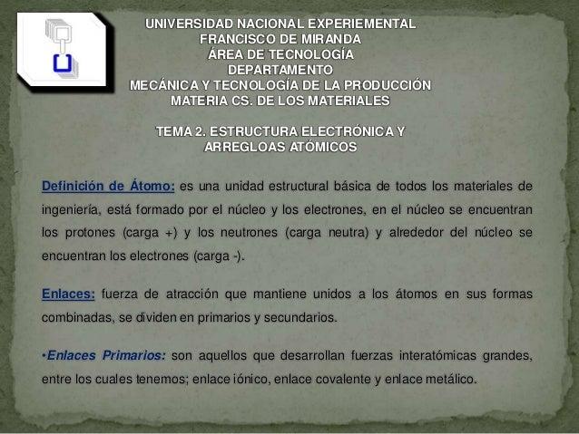 UNIVERSIDAD NACIONAL EXPERIEMENTAL FRANCISCO DE MIRANDA ÁREA DE TECNOLOGÍA DEPARTAMENTO MECÁNICA Y TECNOLOGÍA DE LA PRODUC...