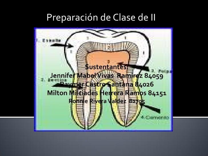 Preparación de Clase de II