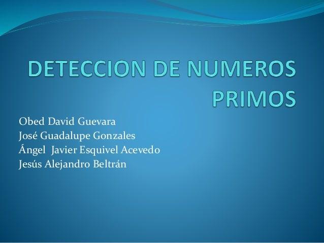 Obed David Guevara José Guadalupe Gonzales Ángel Javier Esquivel Acevedo Jesús Alejandro Beltrán