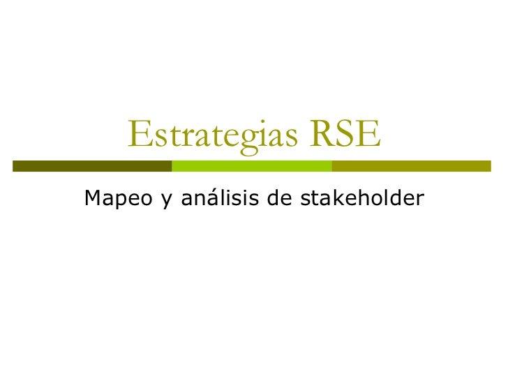 Estrategias RSE Mapeo y análisis de stakeholder