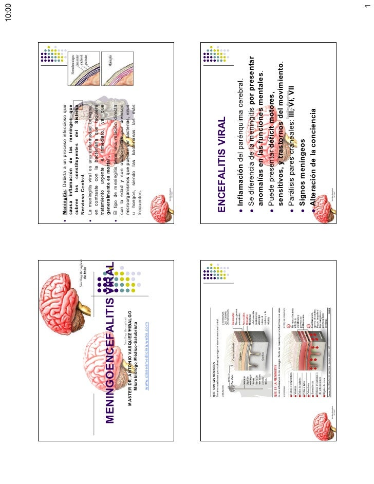 Clase meningoencefalitis viral [modo de compatibili