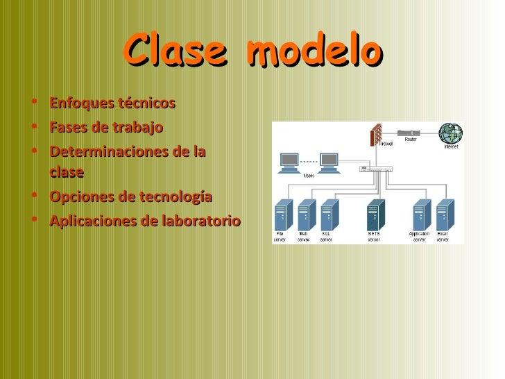 Clase modelo <ul><li>Enfoques técnicos </li></ul><ul><li>Fases de trabajo </li></ul><ul><li>Determinaciones de la clase </...