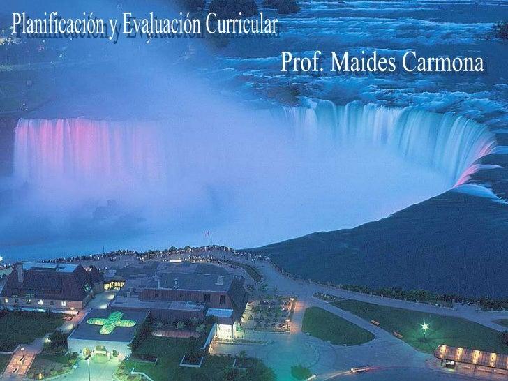 Planificación y Evaluación Curricular Clase nº2