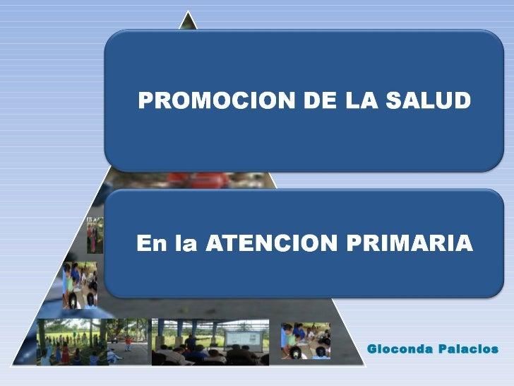 Clase Promoción en Atención Primaria