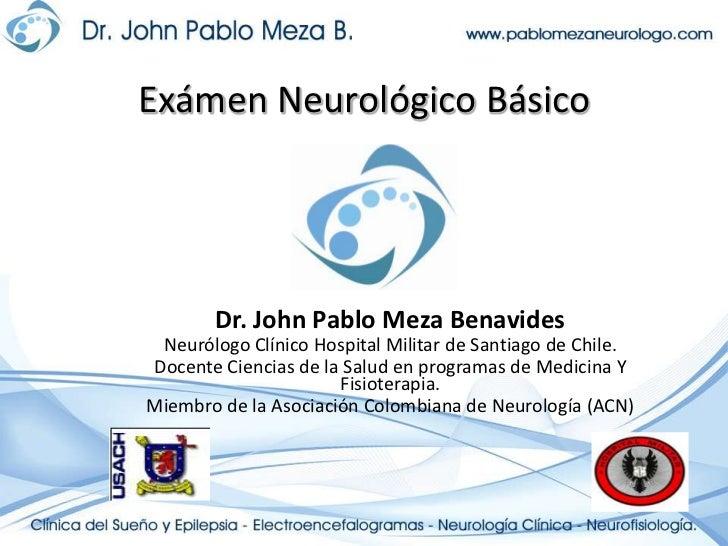 Clases clinica neurologia   examen básico neurología fisioterapia