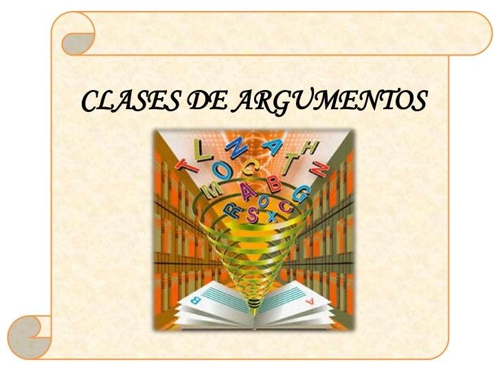 Clases de argumentación