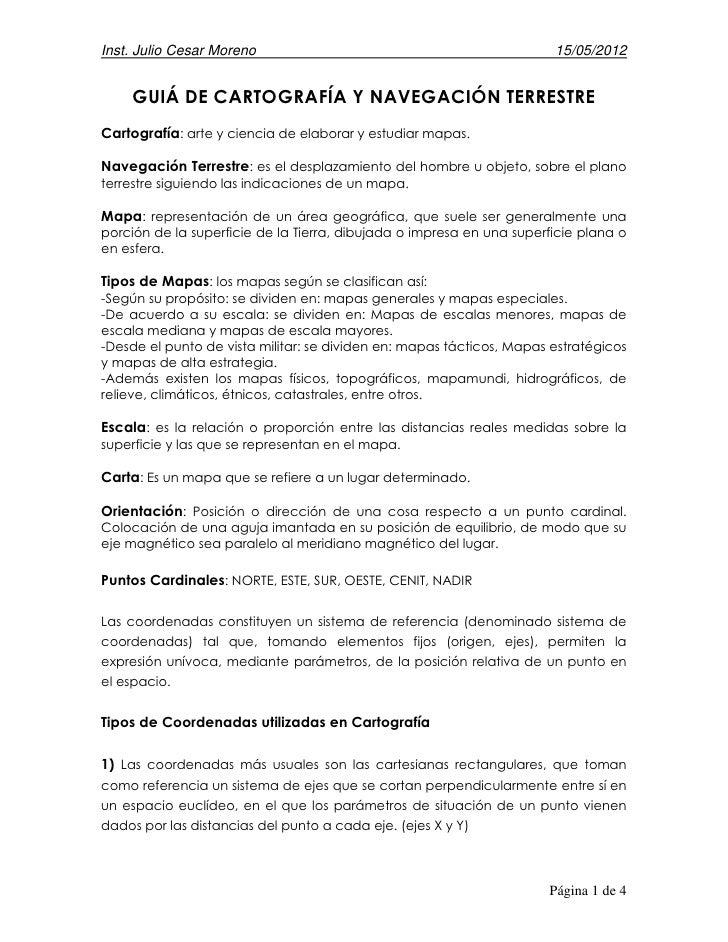 Inst. Julio Cesar Moreno                                               15/05/2012    GUIÁ DE CARTOGRAFÍA Y NAVEGACIÓN TERR...