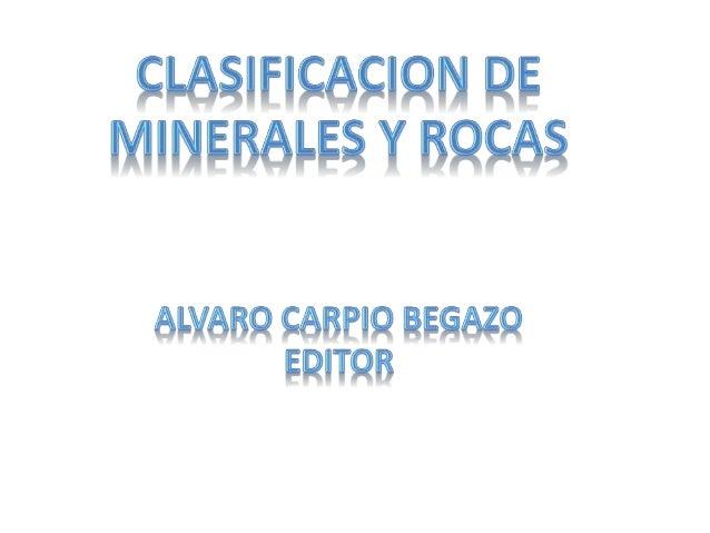 Clases de minerales  y rocas x acb