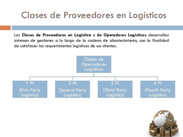 Clases de Proveedores en Logísticos Las Clases de Proveedores en Logística o de Operadores Logísticos desarrollan sistemas...