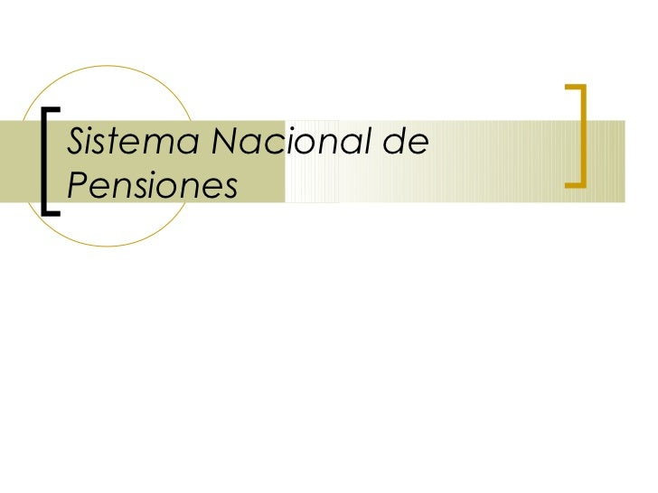 Sistema Nacional dePensiones