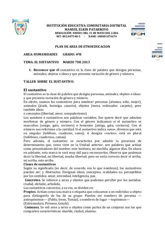 INSTITUCIÓN EDUCATIVA COMUNITARIA DISTRITAL                          MANUEL ELKIN PATARROYO                       RESOLUCI...