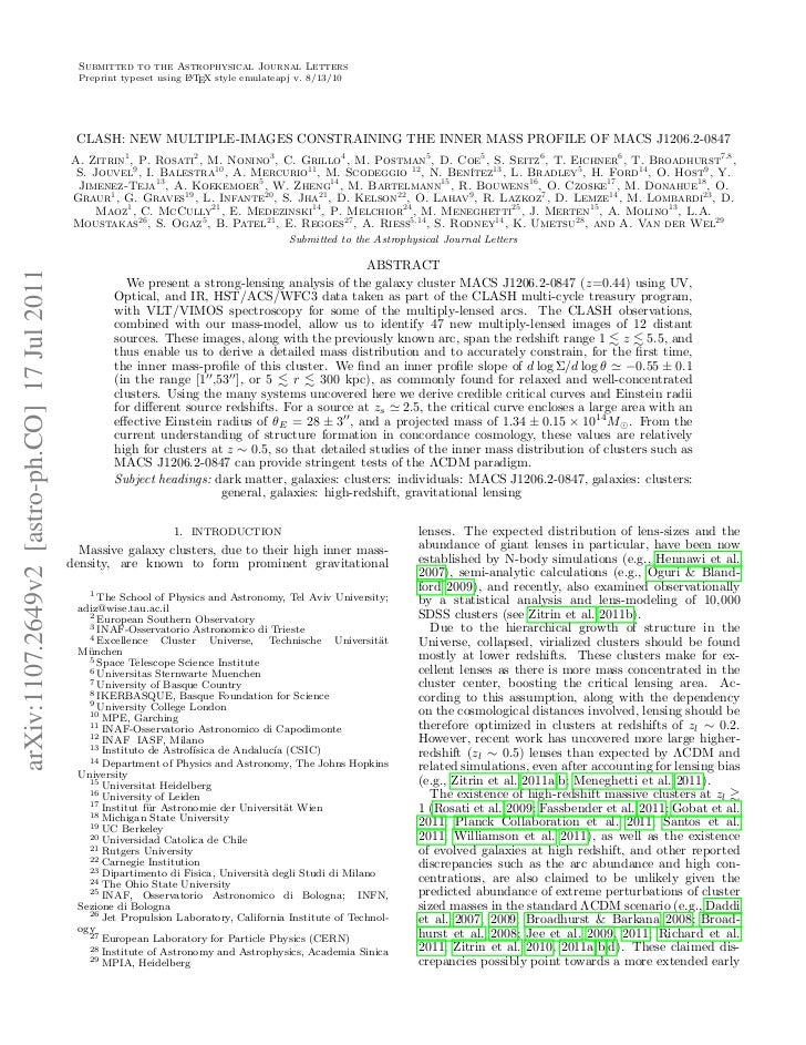 Submitted to the Astrophysical Journal Letters                                                Preprint typeset using L TEX...