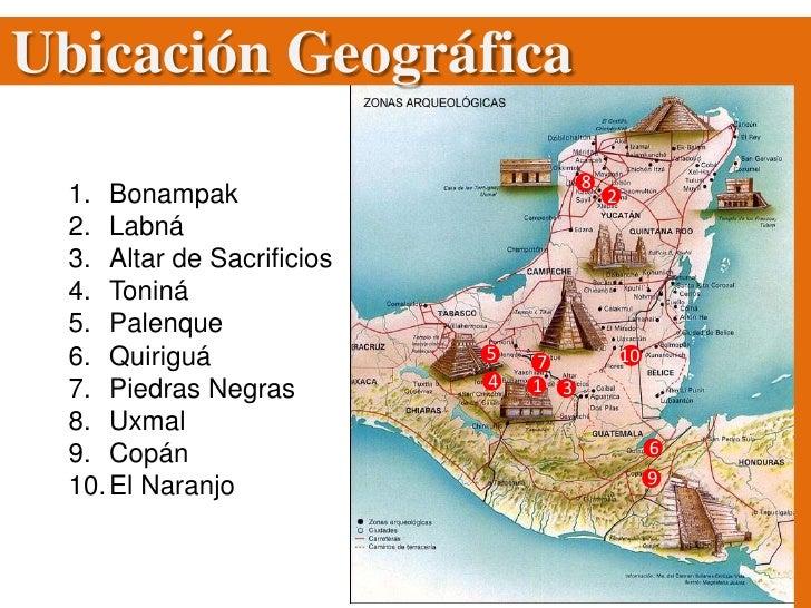 Cl sico tard o maya for Cultura maya ubicacion