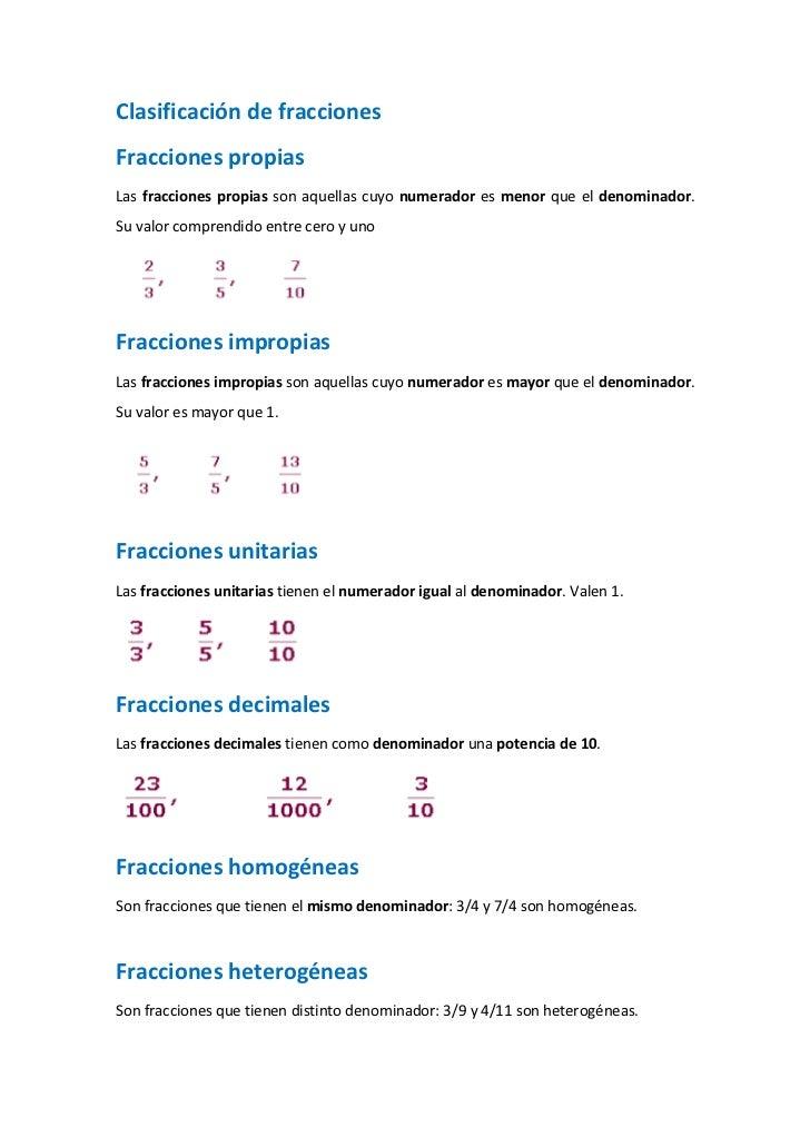 Clasificaci n de fracciones for Marmol clasificacion