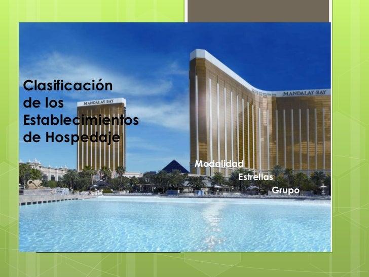 Clasificación de hospedaje