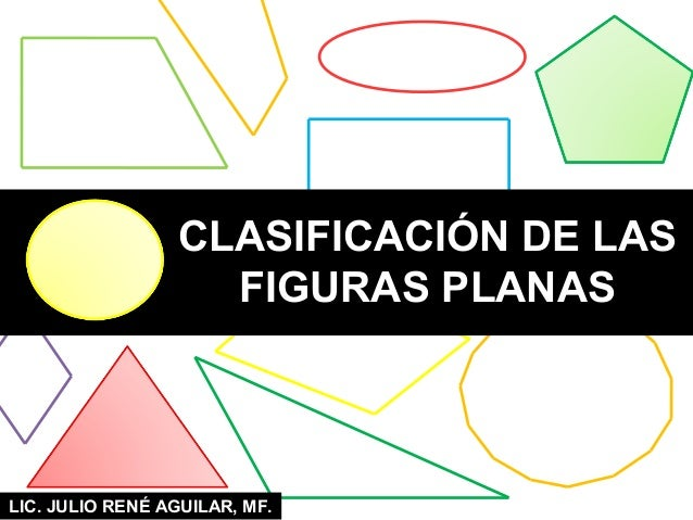 LIC. JULIO RENÉ AGUILAR, MF.CLASIFICACIÓN DE LASFIGURAS PLANAS