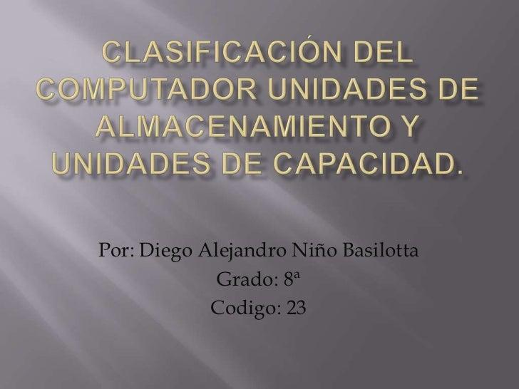 Por: Diego Alejandro Niño Basilotta             Grado: 8ª            Codigo: 23