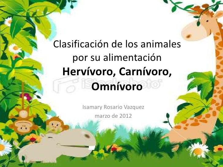 ¿Cómo se clasifican los animales según su hábitat