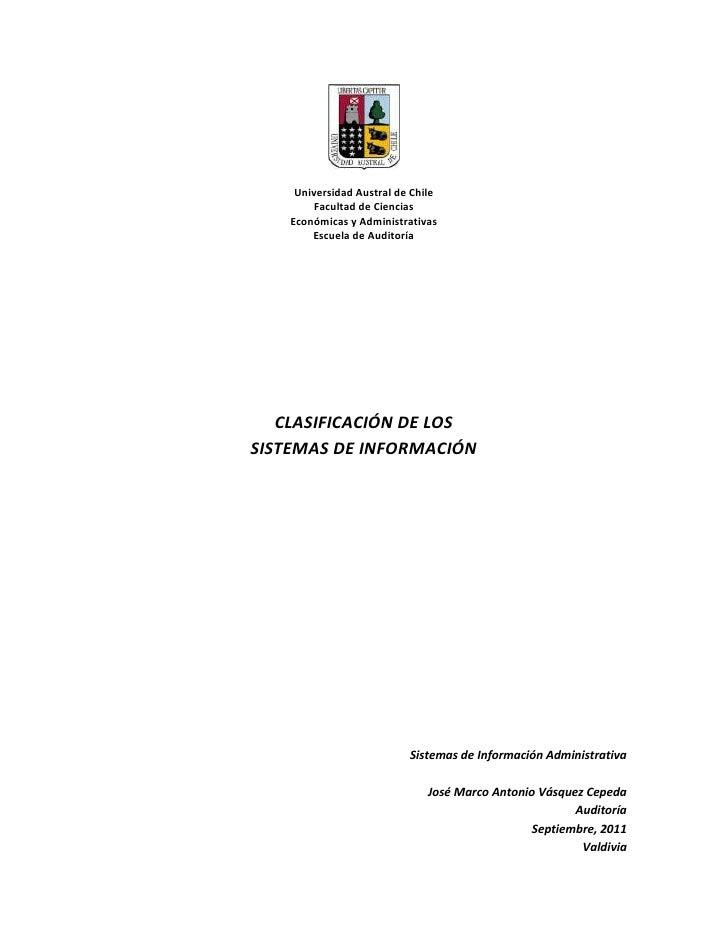Universidad Austral de Chile<br />Facultad de Ciencias <br />Económicas y Administrativas<br />Escuela de Auditoría<br />C...