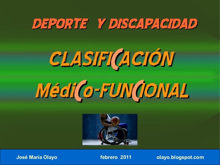 Clasificación médico funcional.