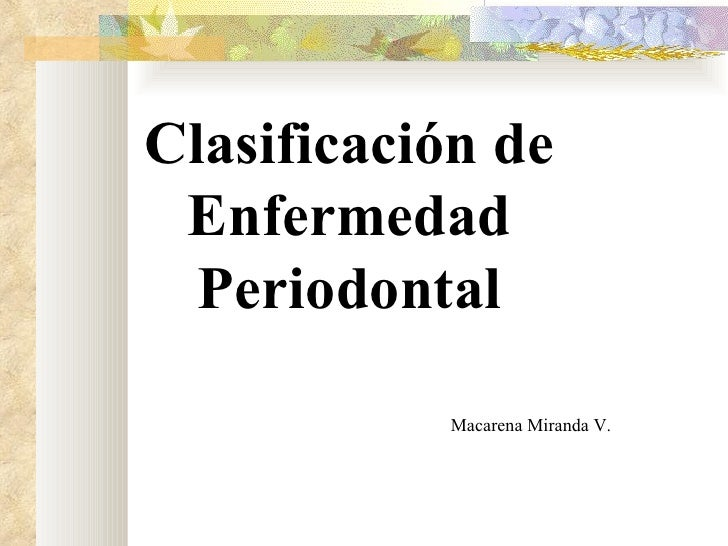 Clasificación+periodontal