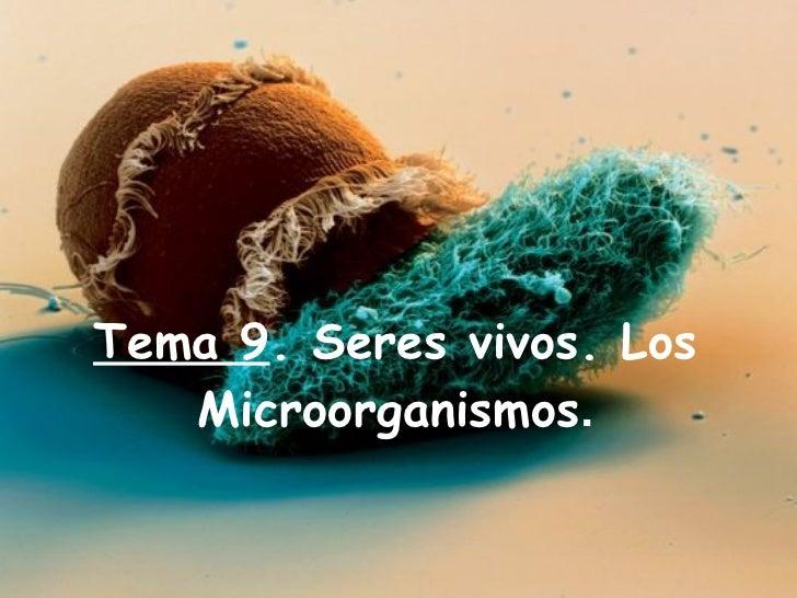 Tema 9 . Seres vivos. Los Microorganismos .