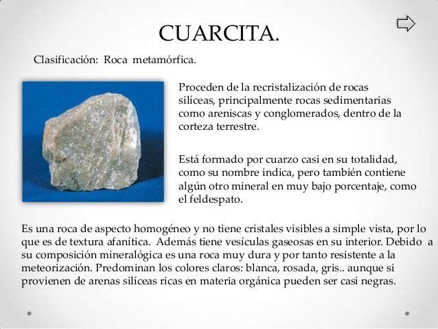 Clasificaci n y caracter sticas de las rocas for Nombre de la roca