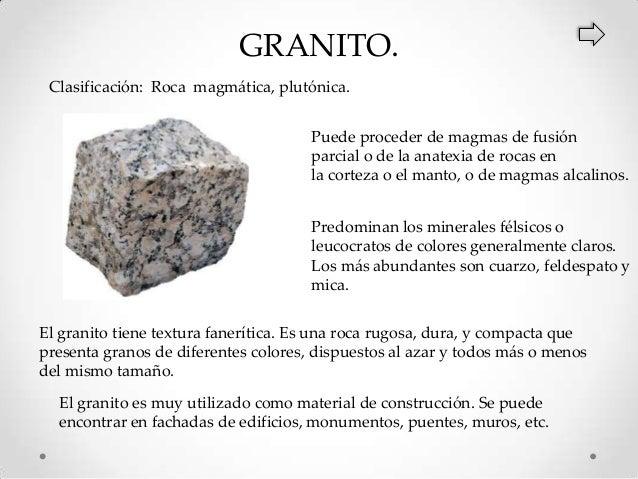 clasificaci n y caracter sticas de las rocas