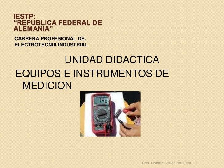 Clasificacion de instrumentos  electricos