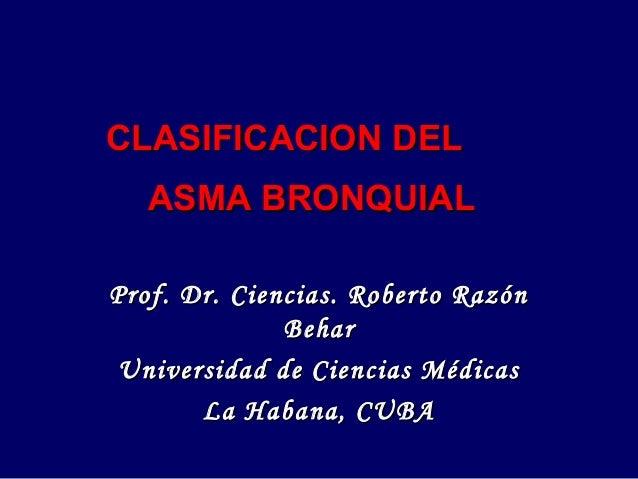 Clasificacion del asma bronquial