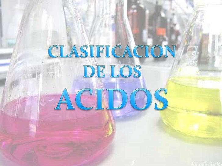 Los Acidos Los ácidos Son Sustancias