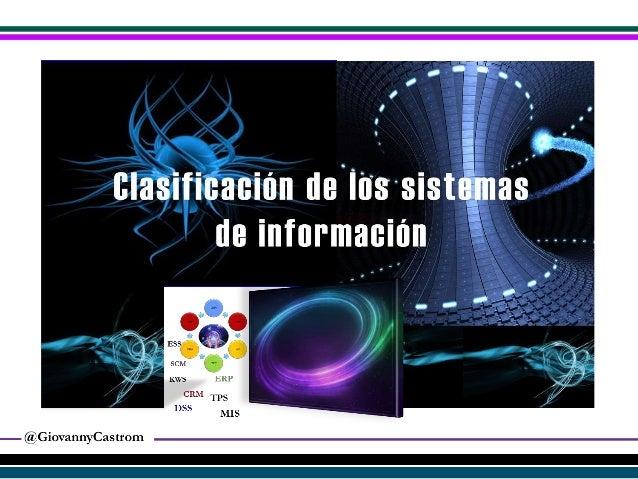 Clasificacion de los sistemas de informacion