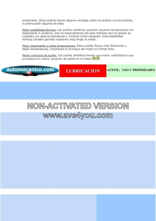 Tipos de Aceites Sinteticos Los Aceites Sintéticos