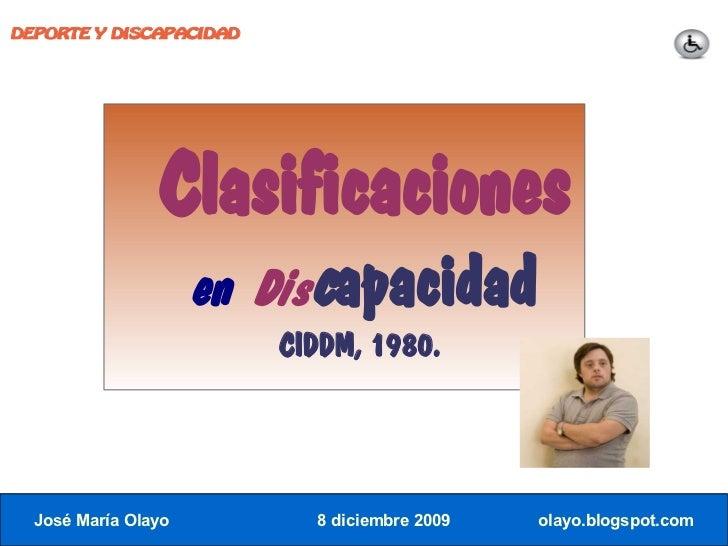 DEPORTE Y DISCAPACIDAD                     Clasificaciones                      en Discapacidad                          C...