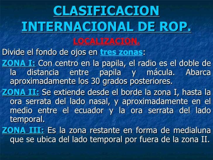 Clasificacion Internacional De Rop