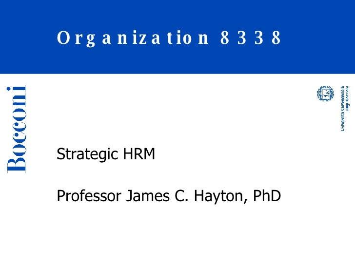Class 2 Strategic Hrm