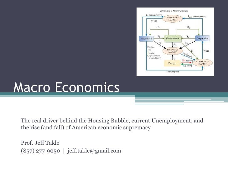 Macro Economics<br />The real driver behind the Housing Bubble, current Unemployment, and the rise (and fall) of American ...