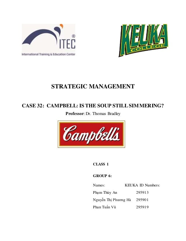 campbell how to keep the soup simmering case analysis