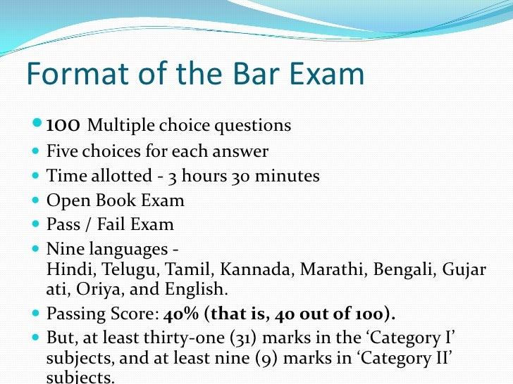 Bar essays