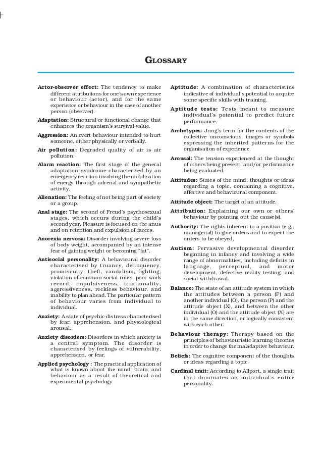 Class12 psychology glossary_ncert_text_book_englishedition