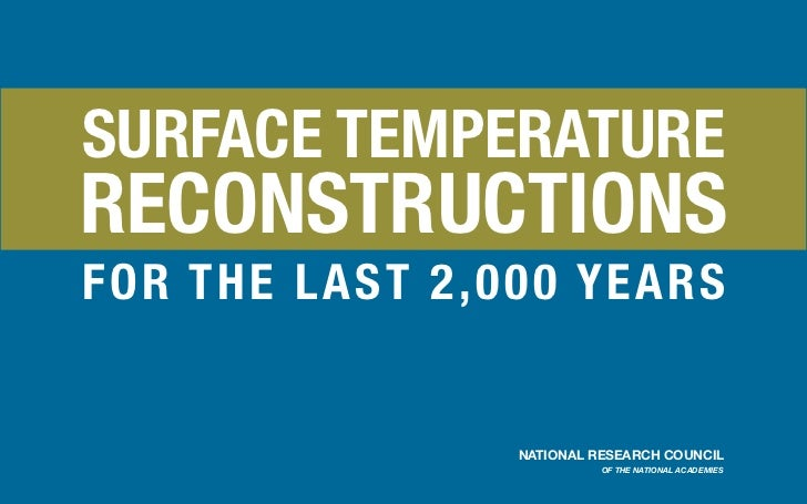 SURFACE TEMPERATURERECONSTRUCTIONSFOR T H E LAS T 2 , 00 0 Y E A R S                       NATIONAL RESEARCH COUNCIL      ...