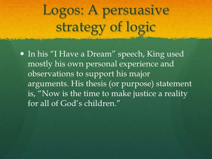 thesis statement of i have a dream speech I agree that a lot of sentences could be the thesis statement  the whole speech  centers around it would be i have a dream that one day this.
