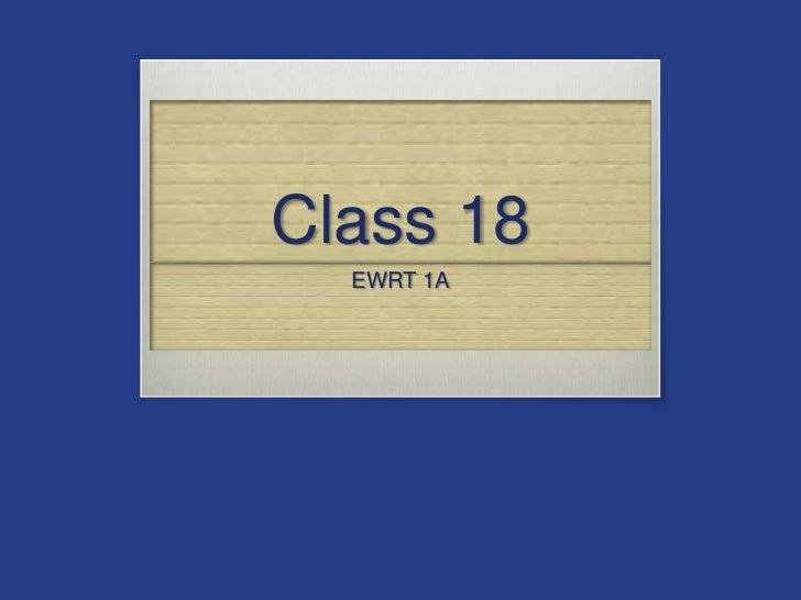 Class 18 1 a