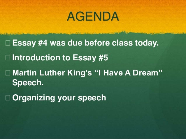 i have a dream essay thesis