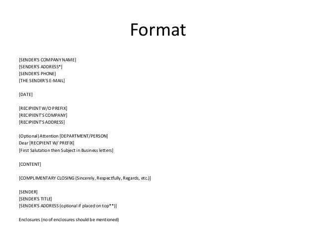 keywords for formal letters