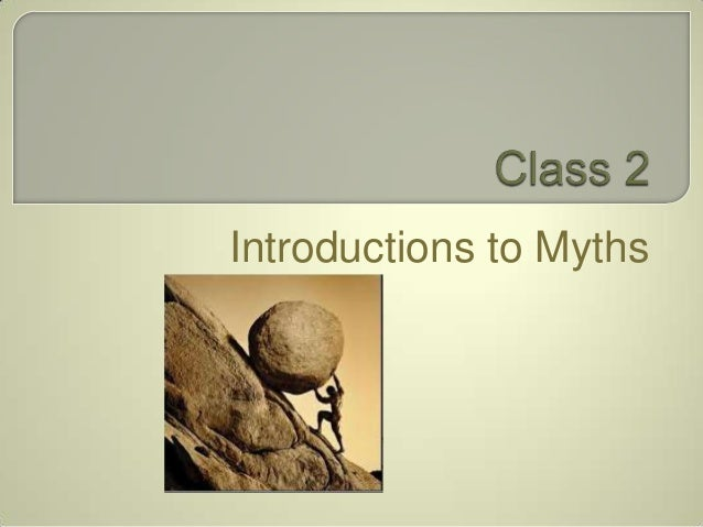 Introductions to Myths